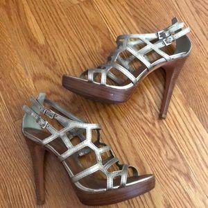 Aldo golddish strappy sandals